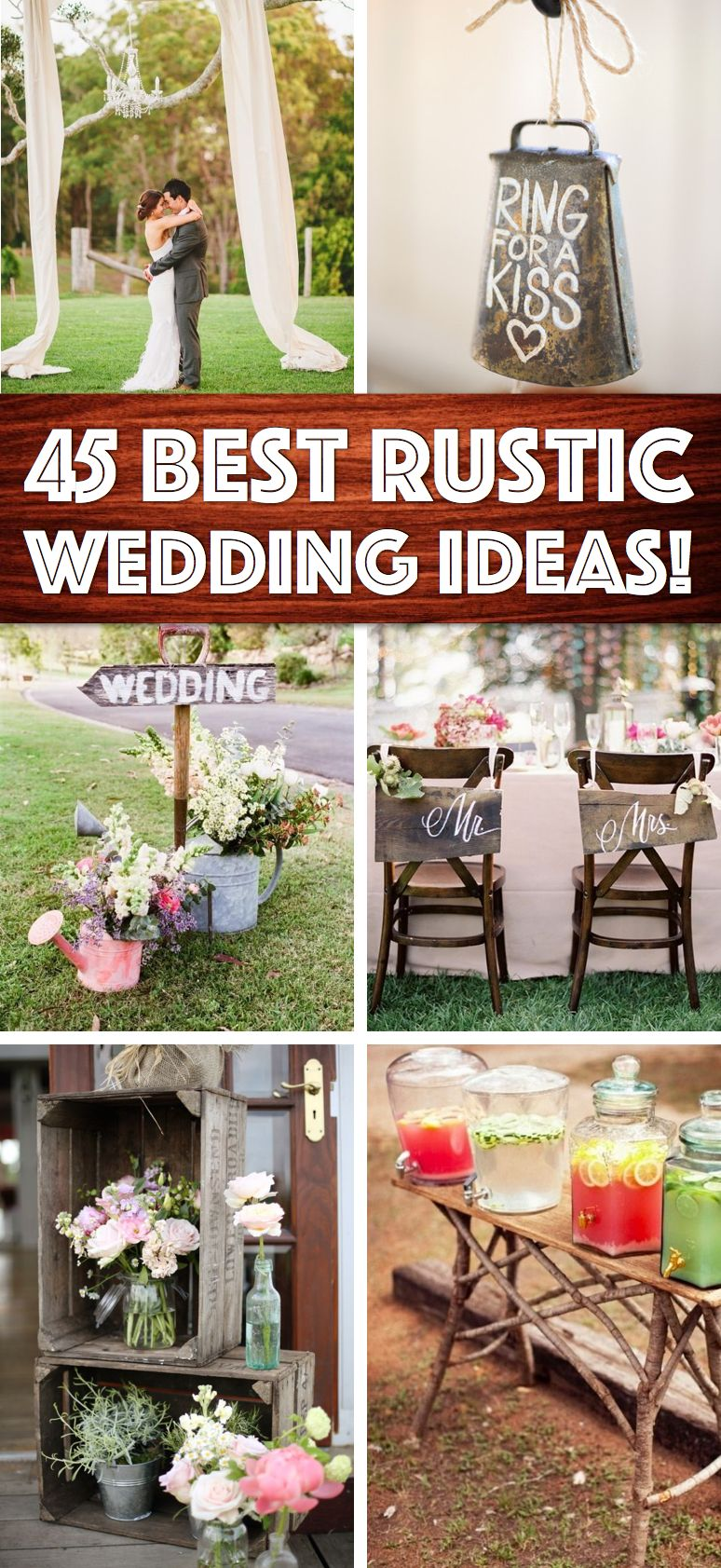 Wedding ideas rustic theme  Shine On Your Wedding Day With These BreathTaking Rustic Wedding