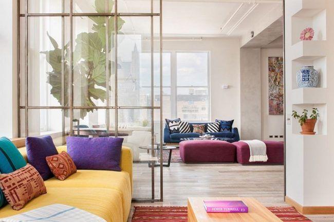 offene-küche-abtrennen-glasschiebetür-stahlrahmen | Couch ...