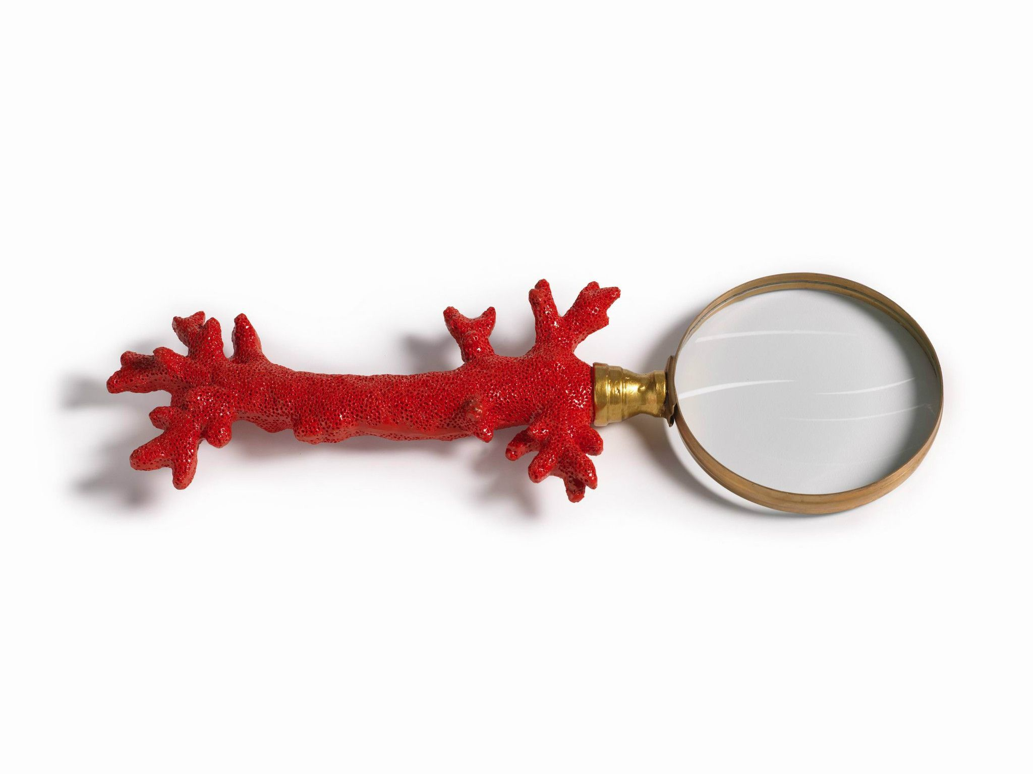 Red Coral Magnifying Glass