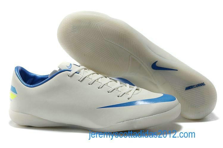 Nike Mercurial 2012 Victory VIII IC Indoor Soccer Shoe White Blue