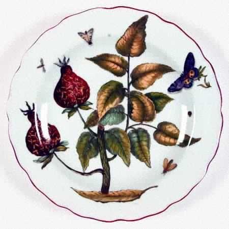 Mottahedeh Chelsea Botanical Dinner Plate
