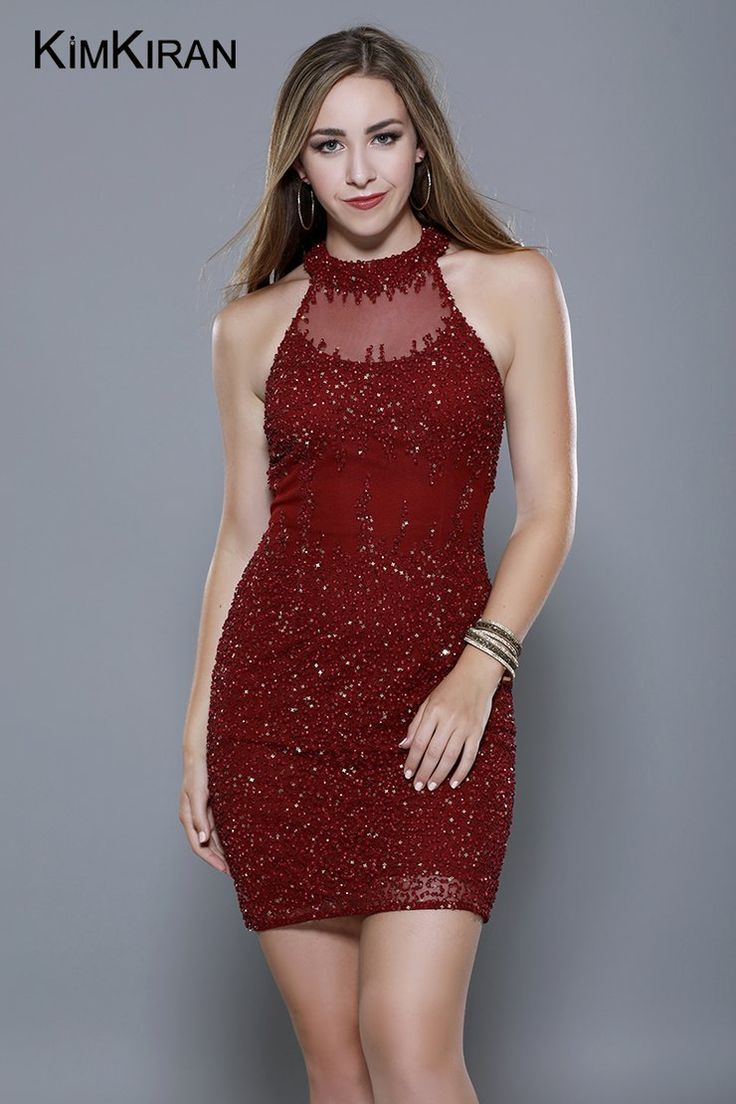 Beautiful Burgundy Cocktail Dress, perfect for the ...