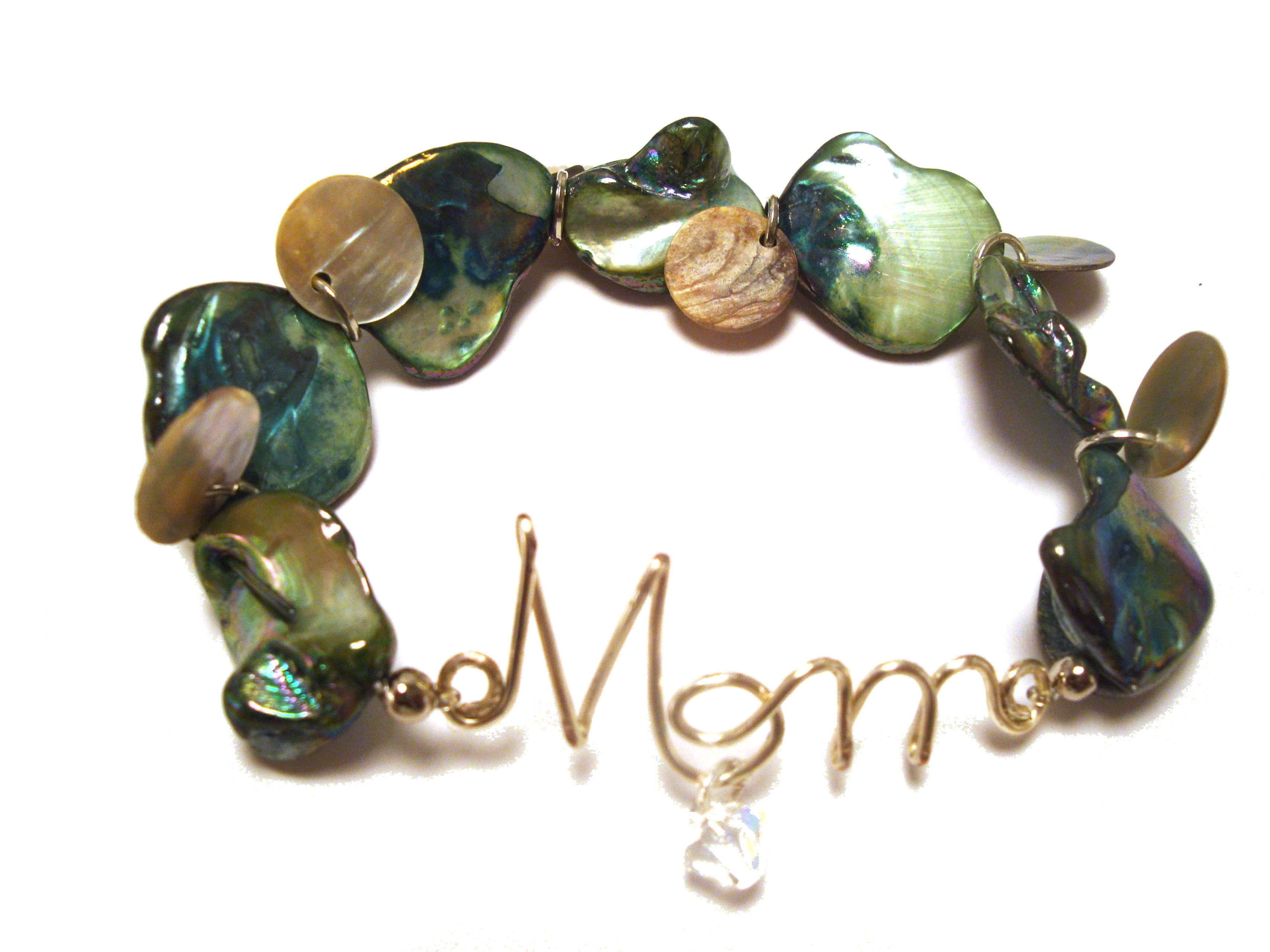 962b1f21cb5 Any Mom would love this personalized Mother of Pearl bracelet. It easily  coordinates with any ensemble