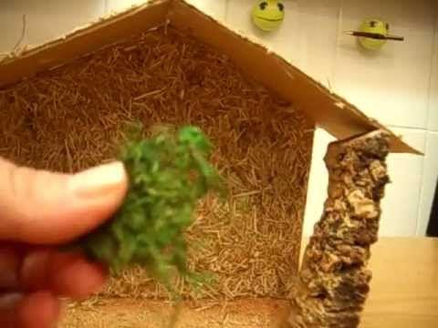 como hacer portal de belen con carton muy facil youtube