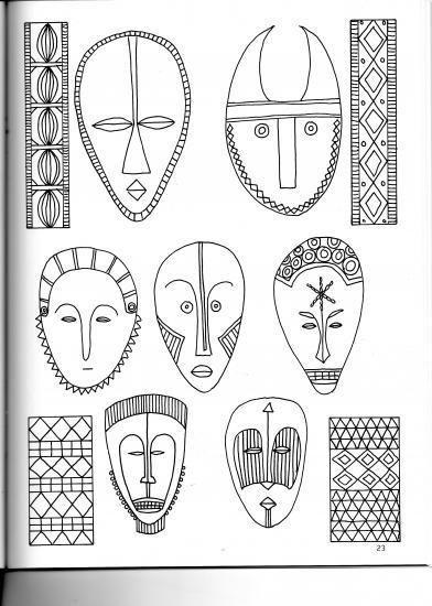 Resultado de imagen de mascaras africanas coloridas arts - Motifs africains maternelle ...
