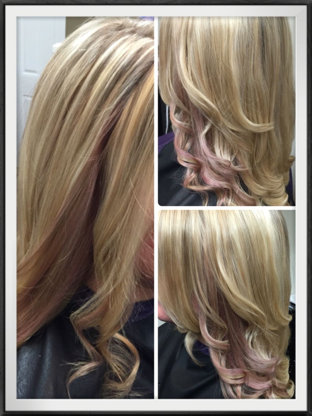 Rose Gold Pink Pastel Peekaboo Highlights Peekaboo Hair