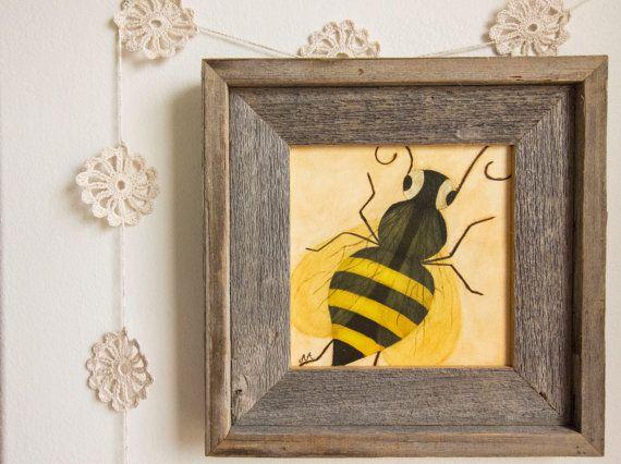 Bee Nursery Art Giclee Print - The Queen Bee, children story illustration