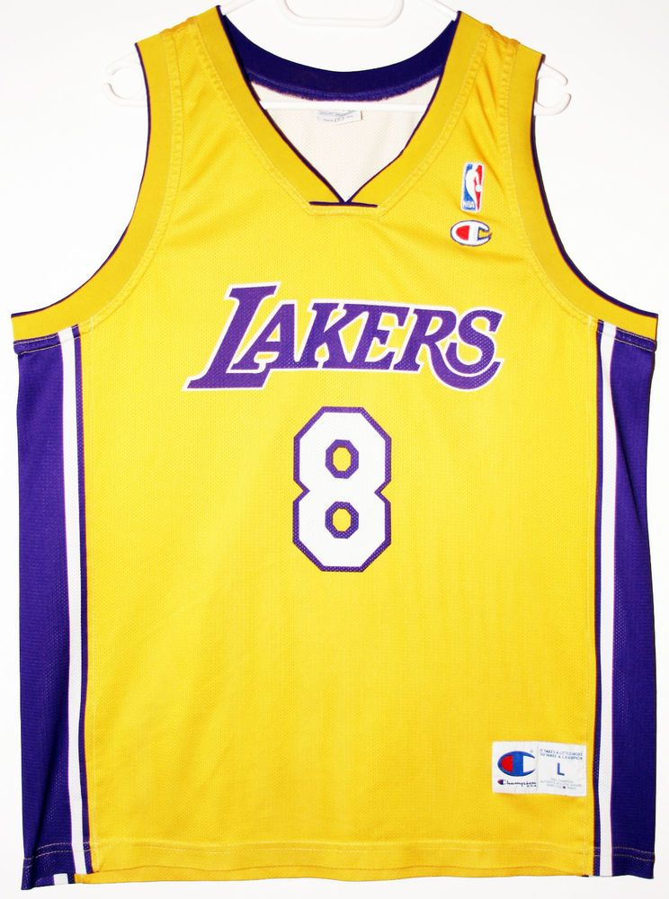 6248b1329 Champion NBA Basketball Los Angeles Lakers  8 Kobe Bryant Trikot Jersey  Size 44 -