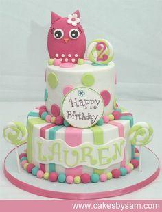 Phenomenal Owl Birthday Cake With Images Birthday Cake Kids Birthday Personalised Birthday Cards Akebfashionlily Jamesorg