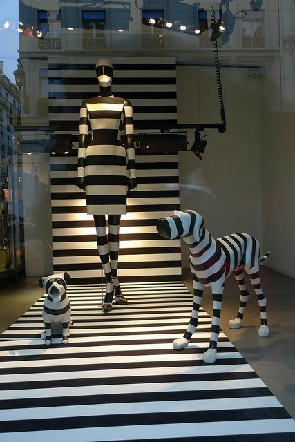 Geometrical shapes so uniquely transforming 2D space to 3D ... |Curved Line Display Visual Merchandising