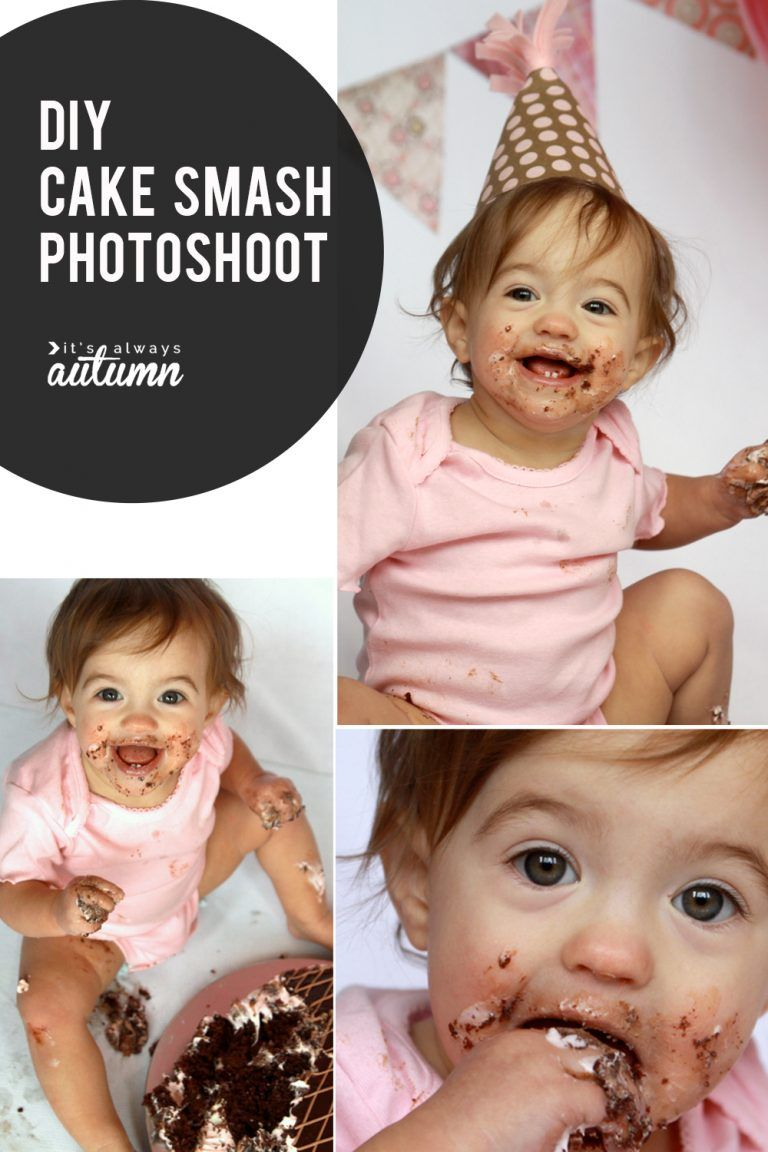 DIY Cake Smash photoshoot get awesome photos of baby's