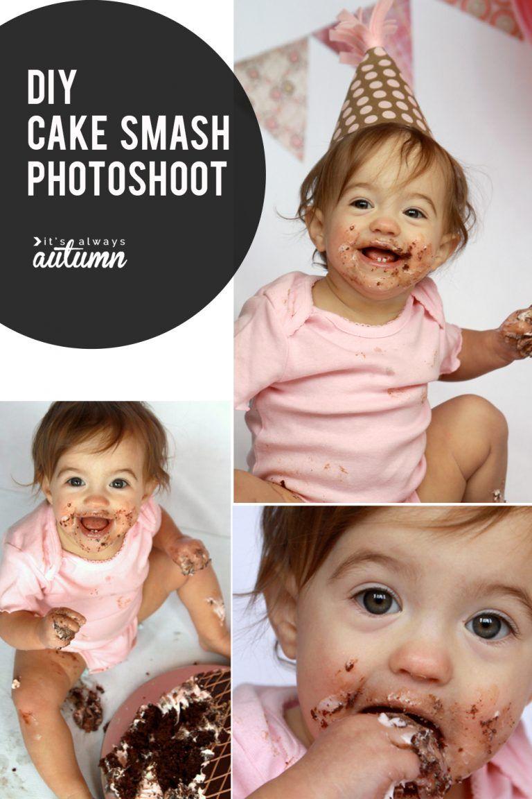 DIY Cake Smash photoshoot get awesome photos of baby's