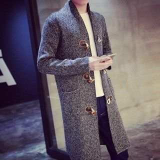 852bb03a5332 Вязаный кардиган мужской серый на пуговицах длинный | Чоловіча мода ...