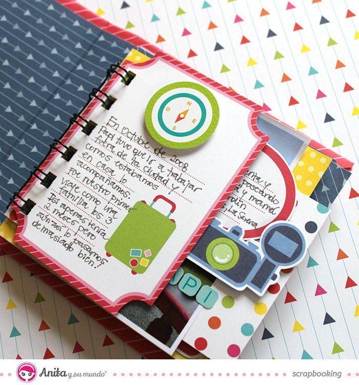 Mini lbum con encuadernaci n espiral decoraci n interior mini albums pinterest mini - Decoracion de album de fotos ...