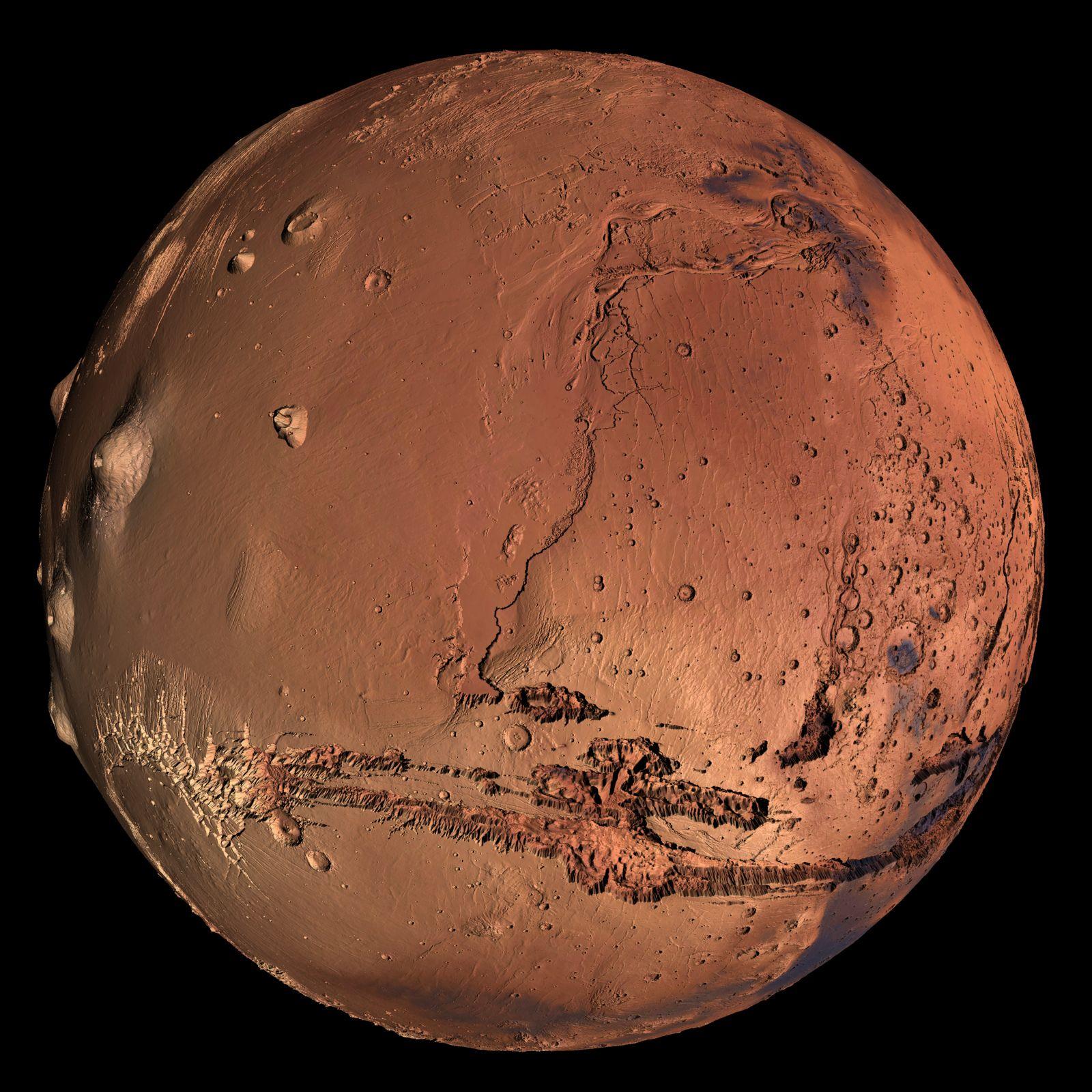 Kerberos Moon Of Plluto: Mars Visualization With Satellite Imagery Overlay
