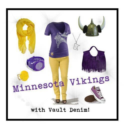 Go Vikings! Featuring Emerson Edwards exclusively from Vault Denim. Available in bamboo {yellow}!