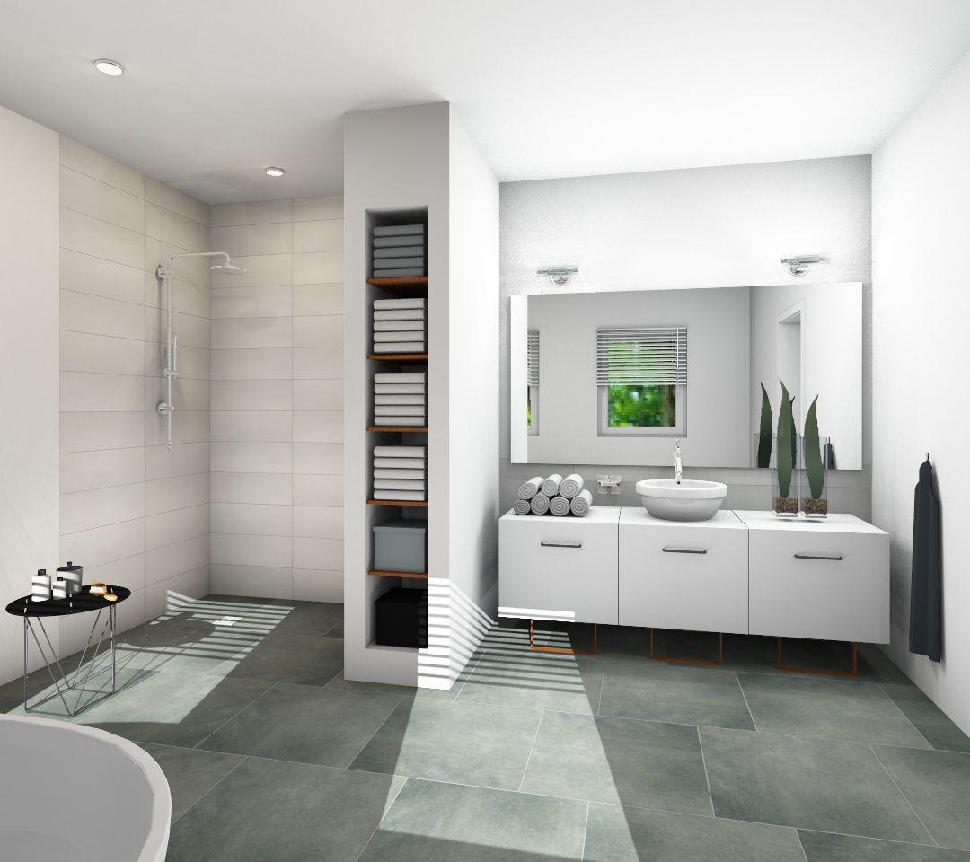 Design Auf Ganzer Linie   Die Begehbare Dusche! #fliesenliebe  #homesweethomeu2026