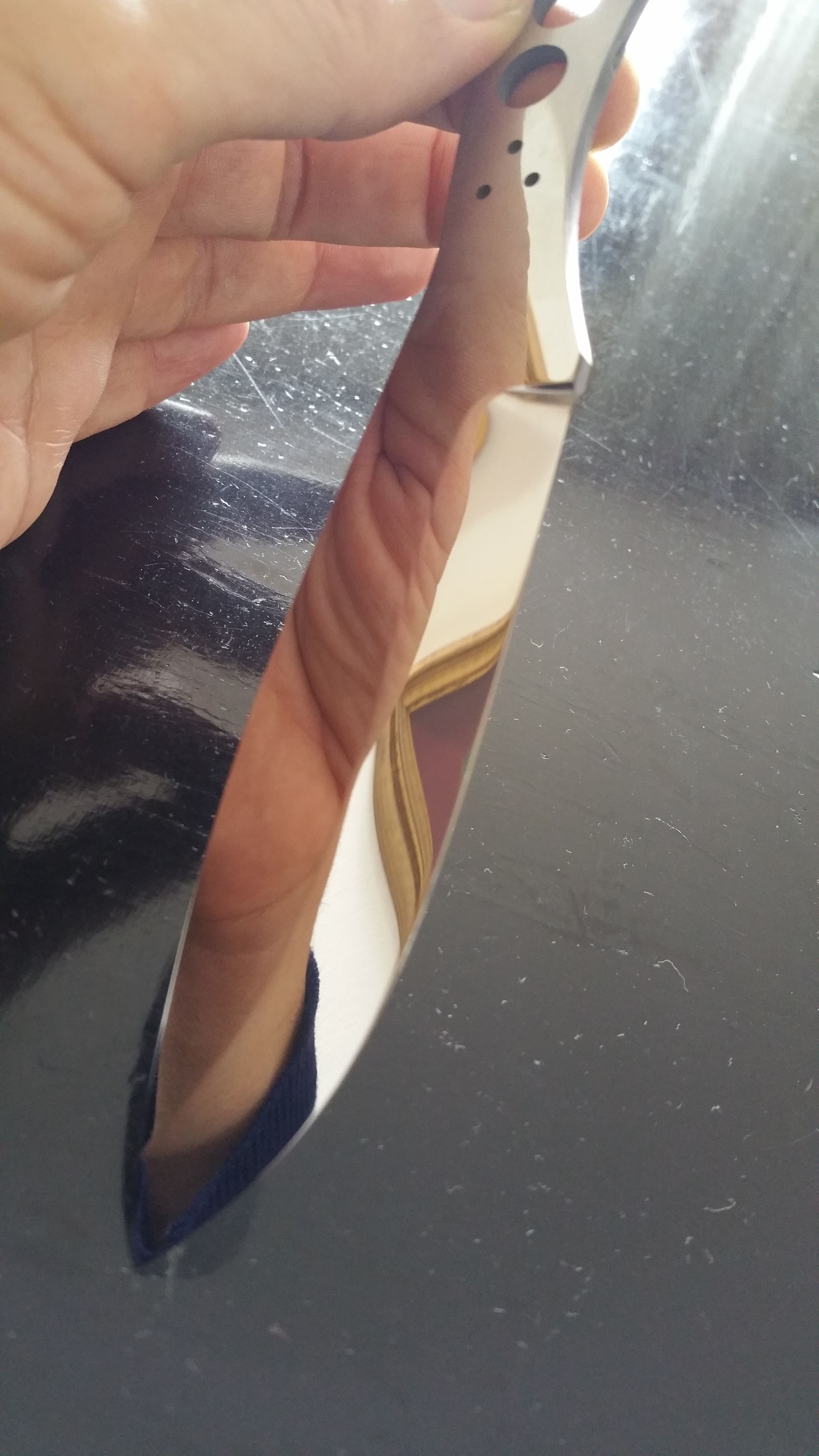 Manaresso Knives Canadian belt knife. Working on mirror