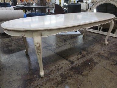 Shop For Clearance Pc Oval Dining Table With Table Pad AMAN - Oval table pad
