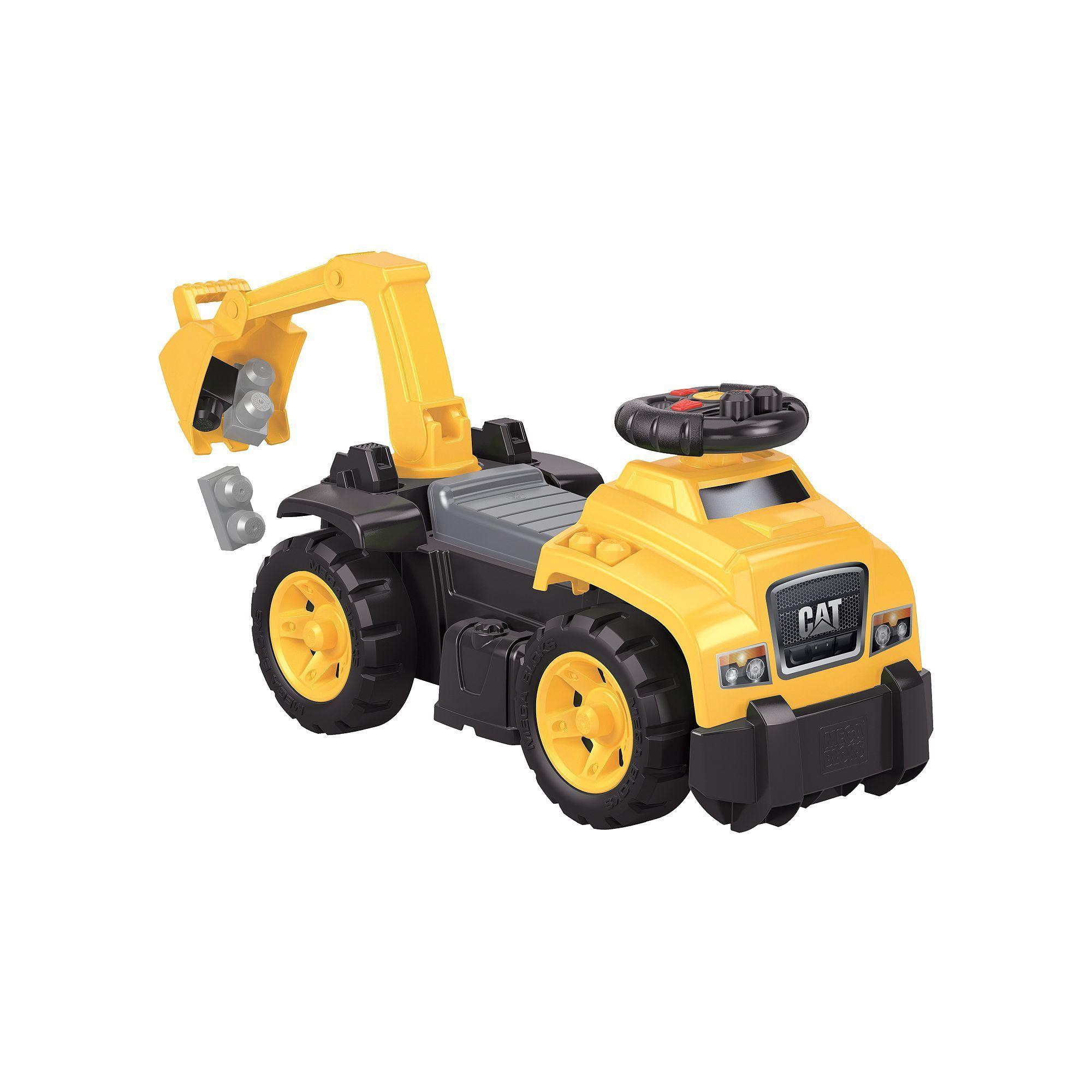 Car 3 toys  Mega Bloks First Builders CAT in RideOn Multicolor  Hard hats