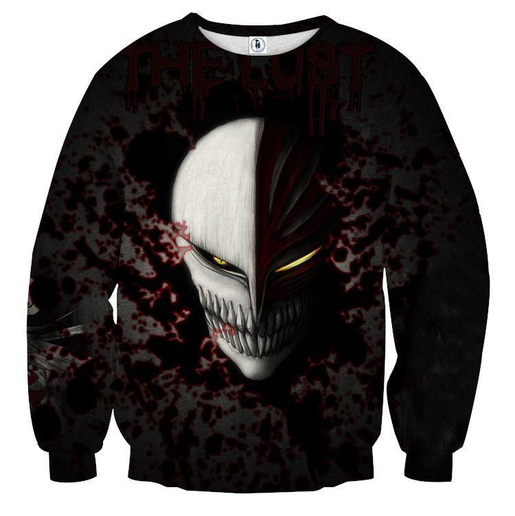 Bleach ichigo hollow face mask cool style basic sweatshirt