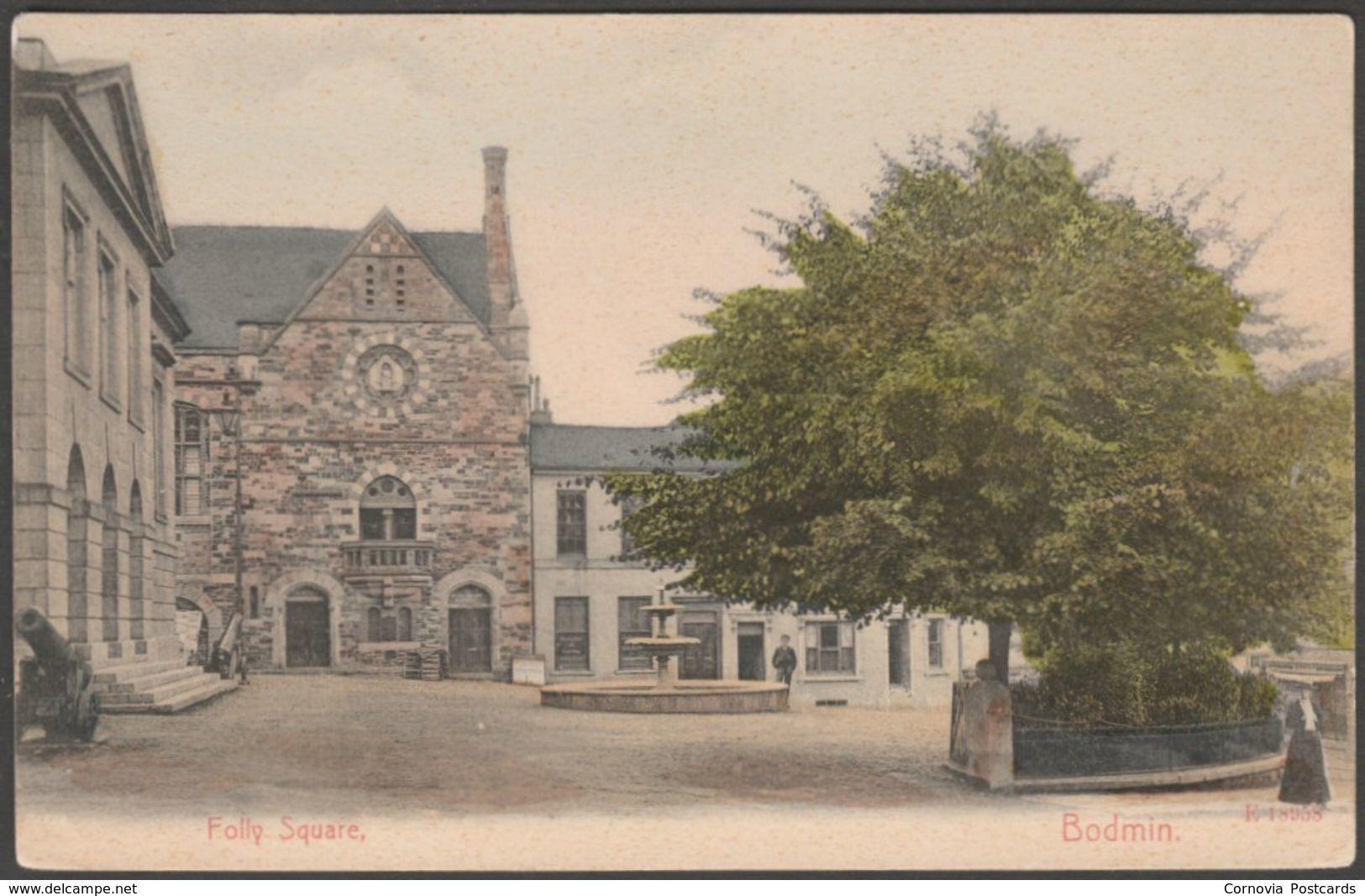 Folly Square, Bodmin, Cornwall, c.1905 - Stengel Postcard