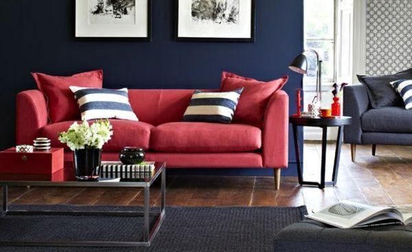 Wohnzimmer Farbvorschläge - schicke Farbgestaltung Pinterest - bilder wohnzimmer rot