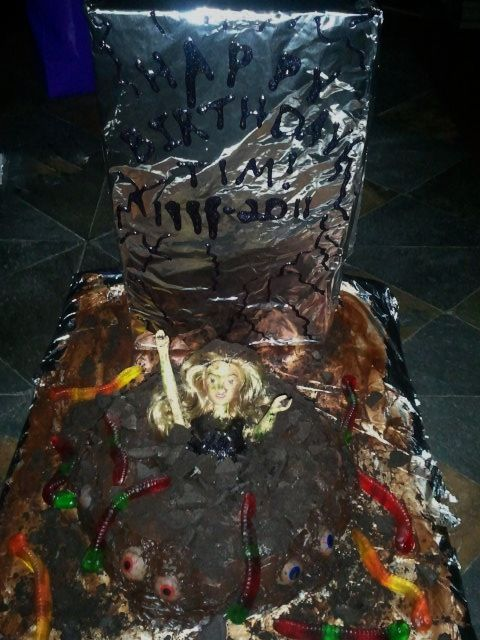 How to Make a Super Easy Zombie Cake Cake Super easy and Birthday
