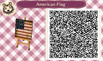 Acnl Qr Code Weathered American Flag Qr Codes Animal Crossing
