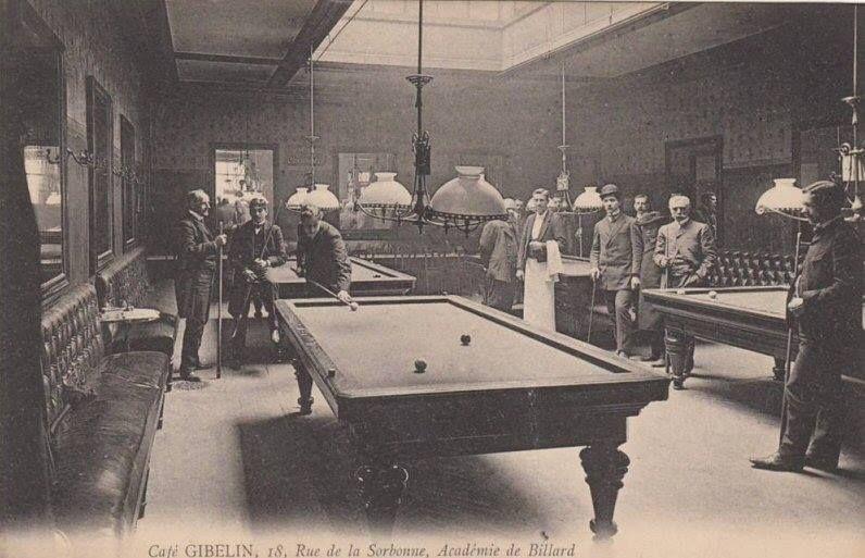1910 acad mie de billard caf gibelin rue de la sorbonne partage de le. Black Bedroom Furniture Sets. Home Design Ideas