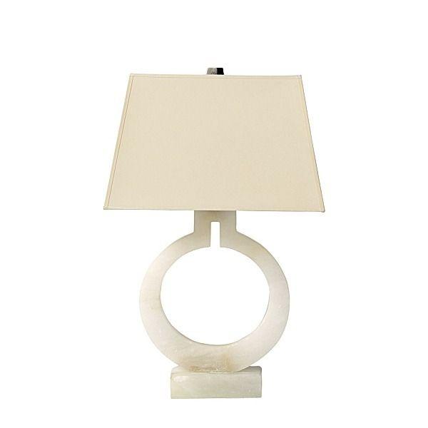 Alabaster ring table lamp