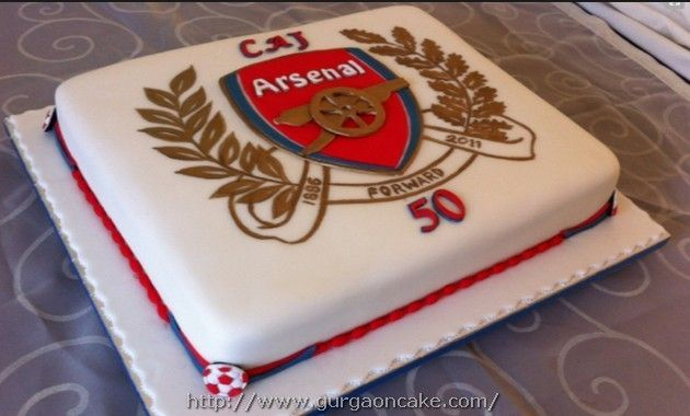 Arsenal Birthday Cake Pictures Picture Birthday Cake Pinterest