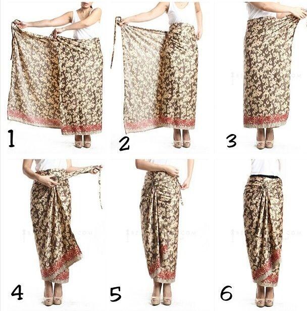 This Is It The Way To Actually Tie The Sarong For The Sarong Kebaya Outfit Gaya Busana Model Baju Wanita Gaya Model Pakaian