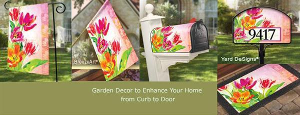 Attractive Matching Spring Flags, Mailbox Covers, Address Signs And Doormats