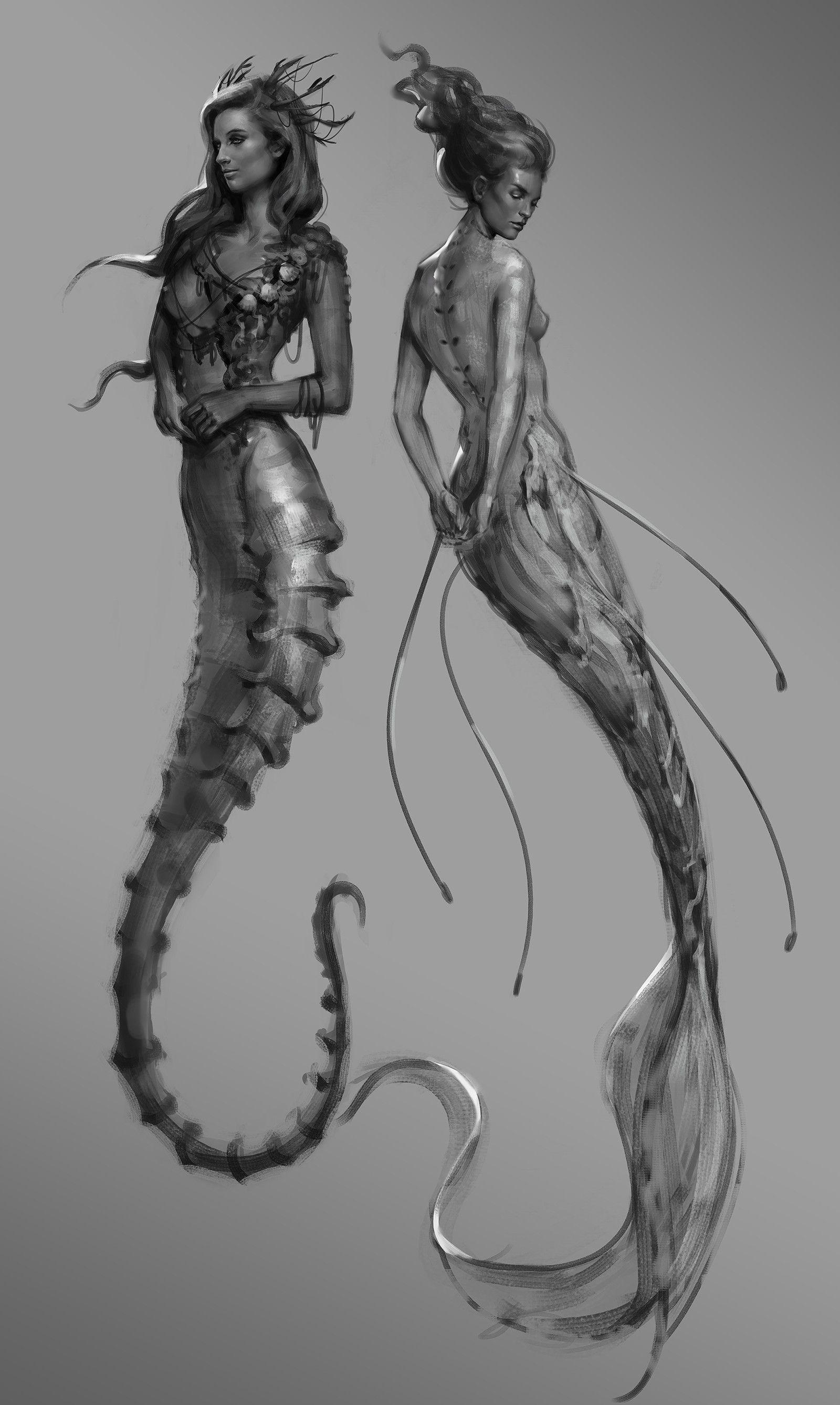 Mermaid Sketches, Aimee Lynette