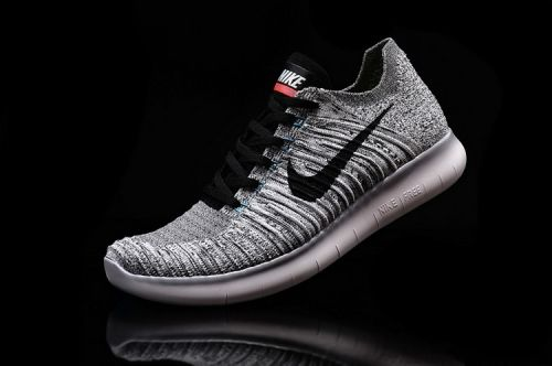 ea21ee505f4d Mens Nike Free RN Flyknit Steel Grey Black Pure Platinum