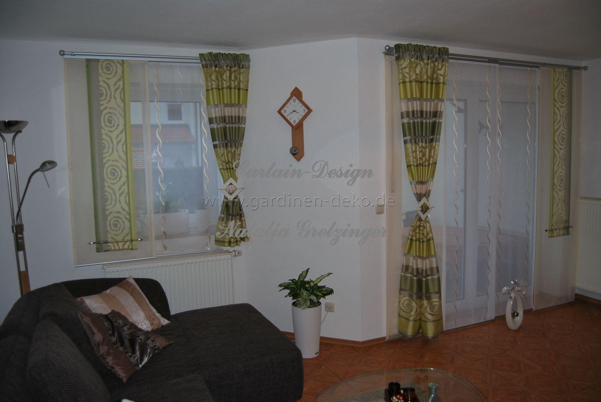 Farbenfrohe Gardine mit Seitenschals fürs Wohnzimmer - http://www ...