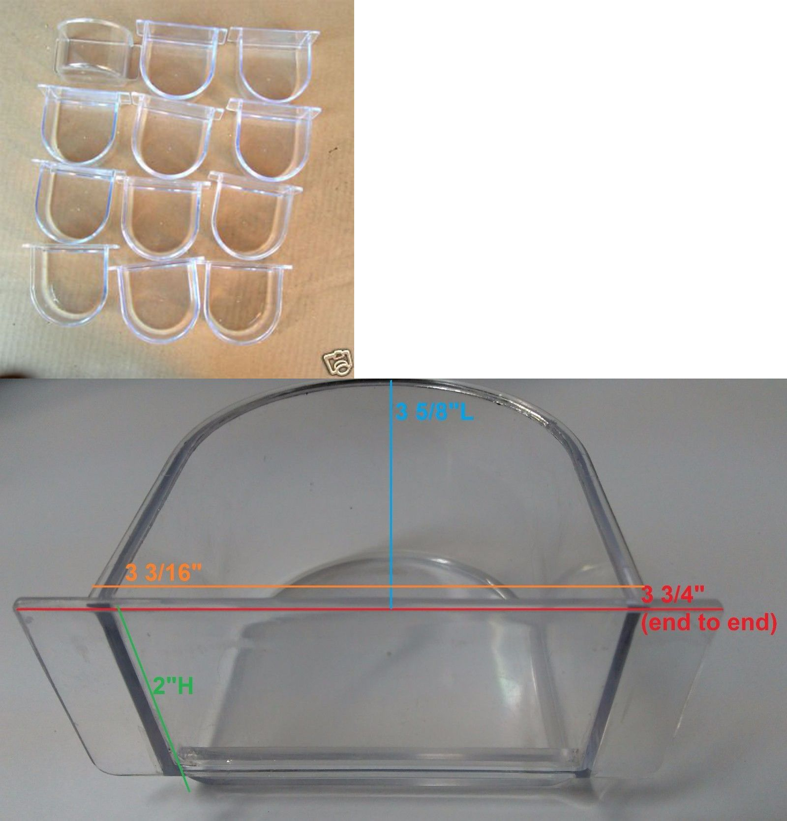 Mcage Lot of 4 Bird Cage Birds Feeding /& Watering Feeder Cups