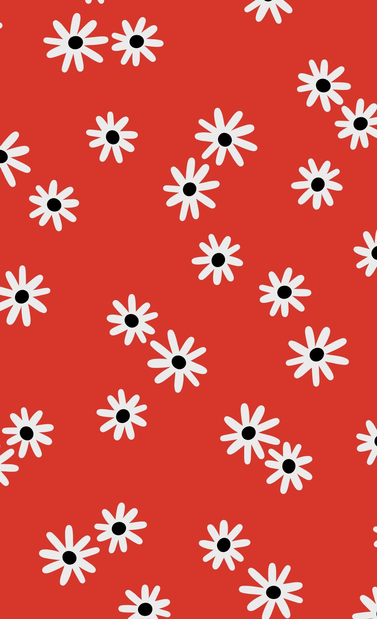 Ditsy Daisies Mini Print Red