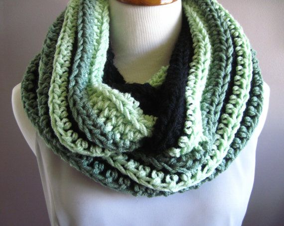 Infinity Scarf in Shades of Green