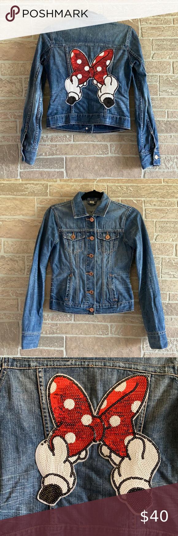 Diy Minnie Jean Jacket Jackets Jean Jacket American Eagle Jeans [ 1740 x 580 Pixel ]