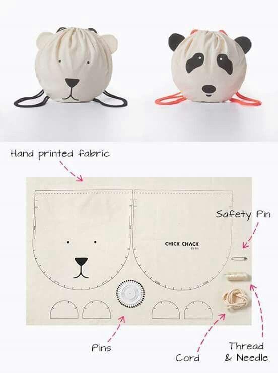 Panda face | Bags | Pinterest | Cojines infantiles, Costura y Bolsos