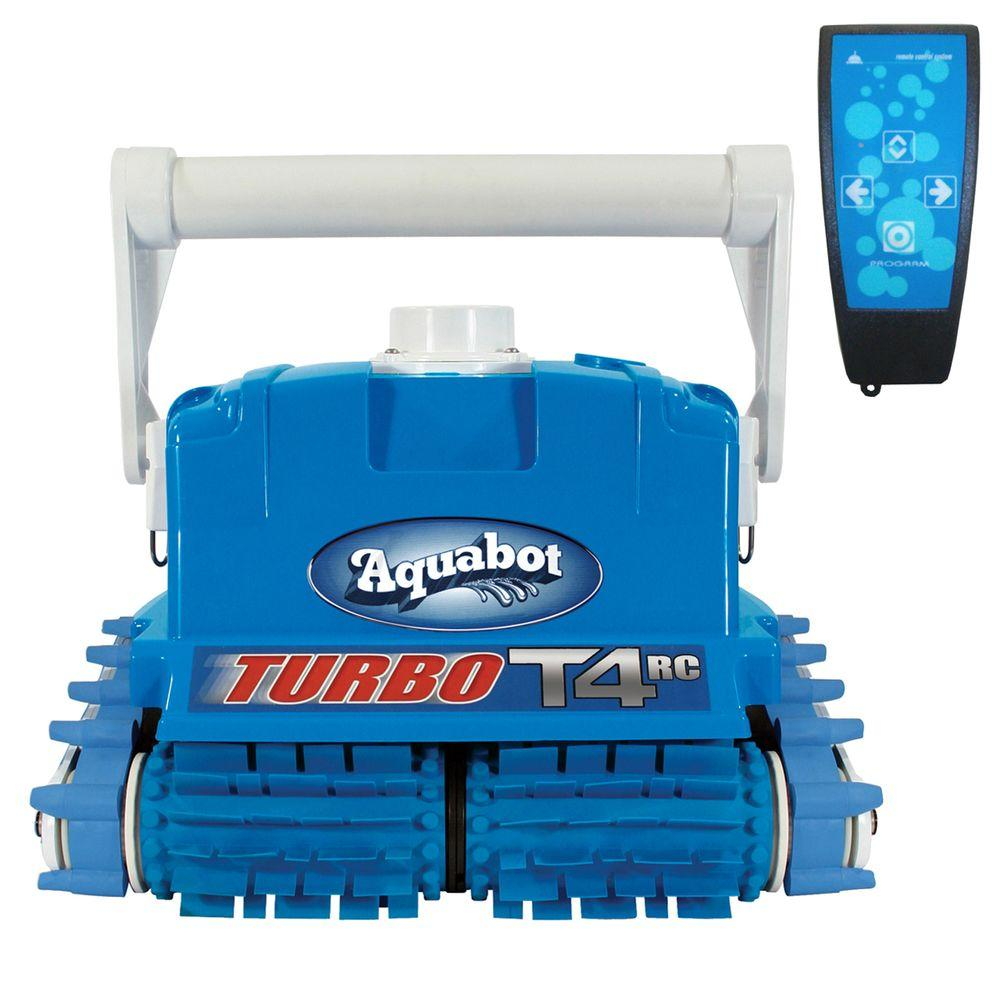 Aquabot Turbo T4 Rc Robotic Inground Pool Cleaner With Caddy Ne3446 The Home Depot Aquabot Robotic Pool Cleaner Swimming Pool Cleaners