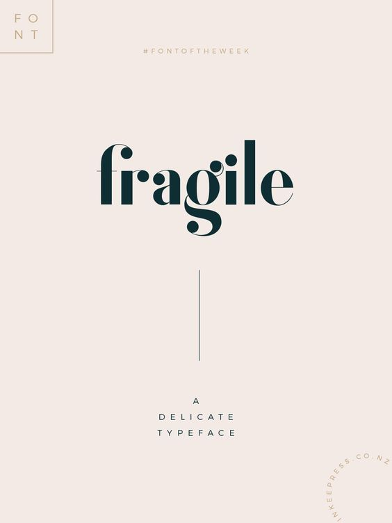 Fragile is a delicate typeface that's perfect for creating gorgeous headlines and designs with personality. Based on vintage letterforms from the '60s and '70s, Fragile makes an excellent typeface for vintage graphics. #vintage #fonts #typeface