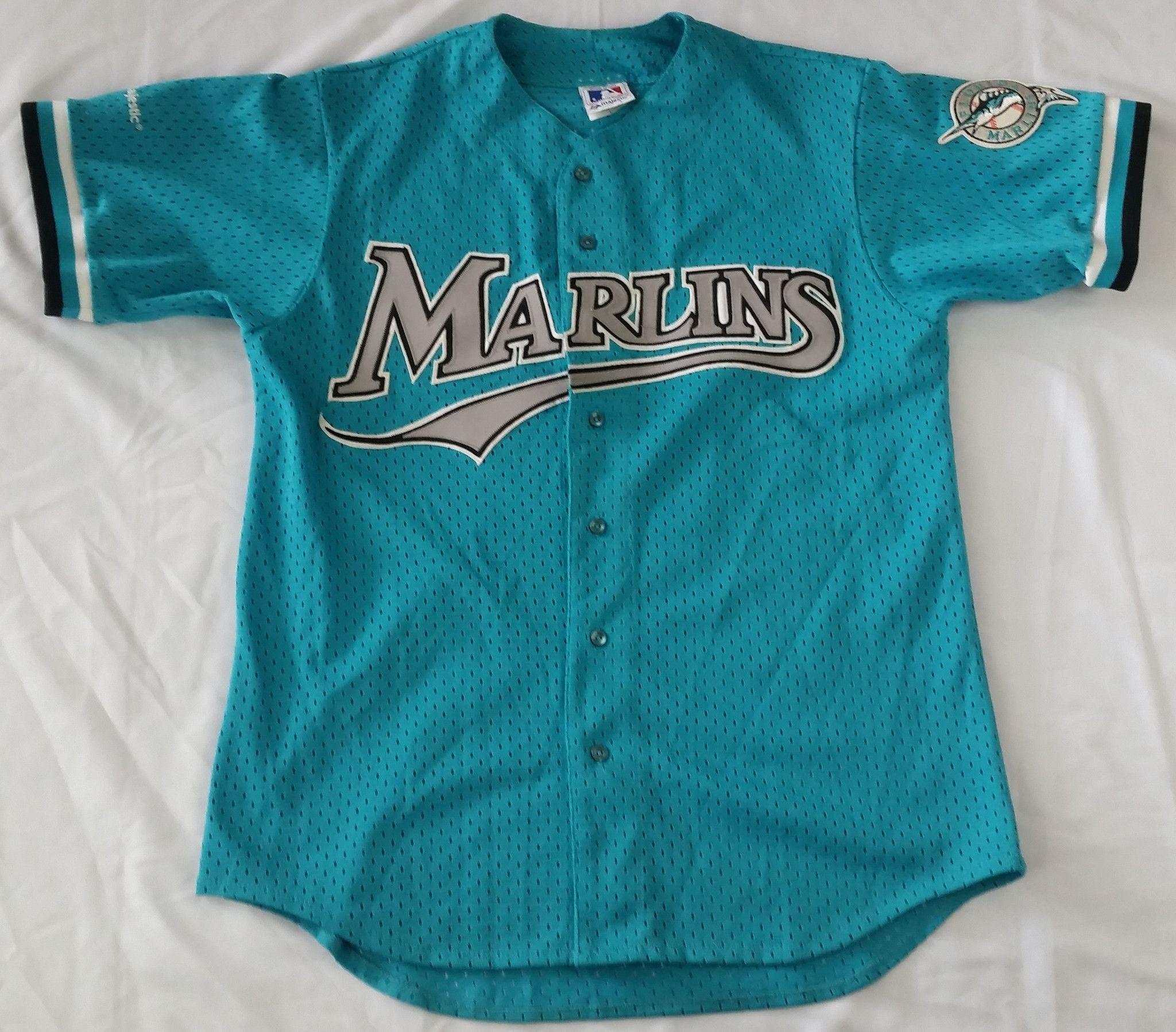 db476331832 ... canada florida marlins vintage majestic jersey mlb baseball rare miami  russell mens l 381d0 18d48