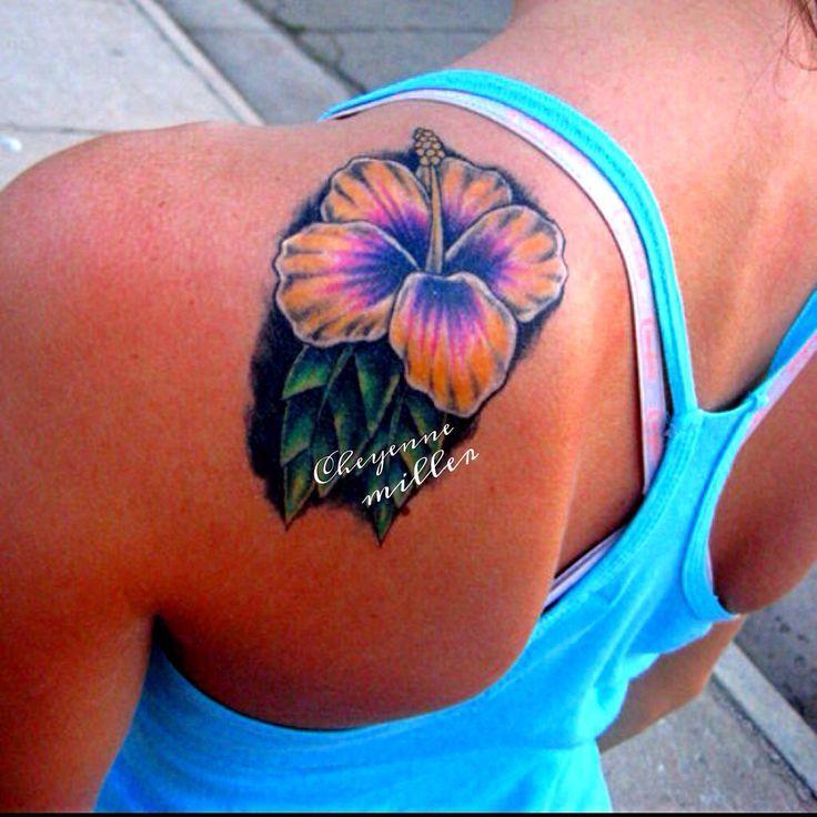 Hibiscus Flower Tattoo Back Gardening Flower And Vegetables