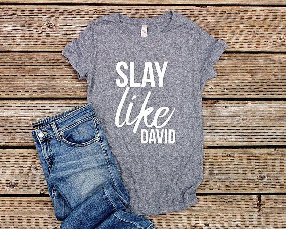 Slay Like David Christian T Shirts for Women Christian Shirts   Etsy