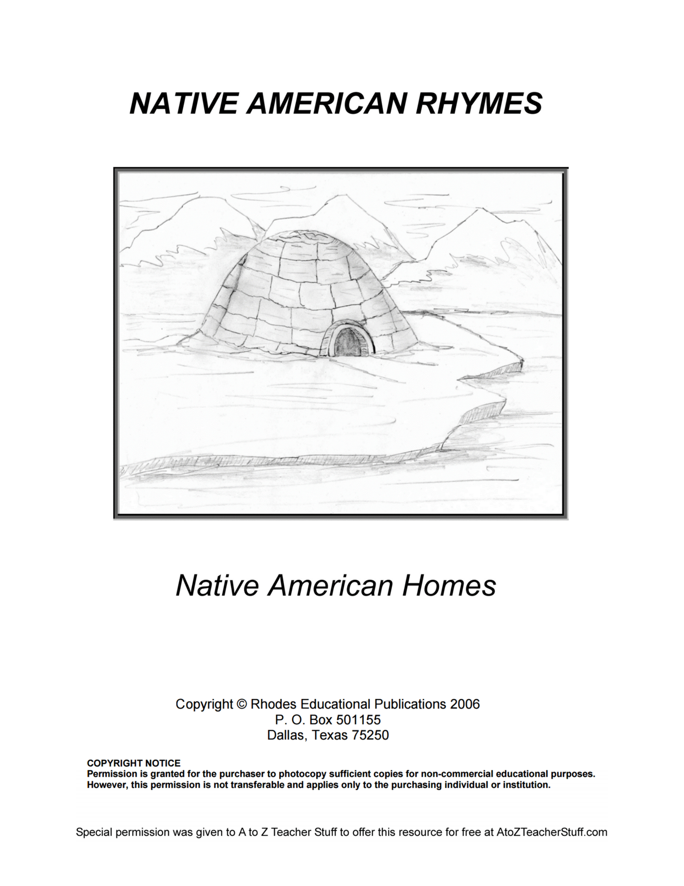 Native American Rhymes Native American Homes Free