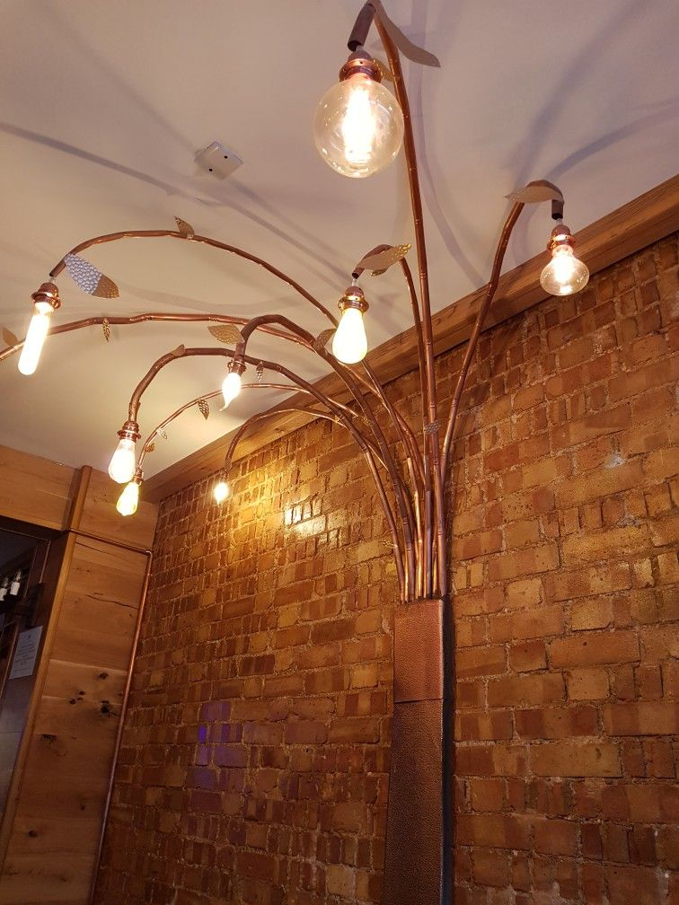 Wall Light Made Of Copper Pipes Copper Wall Light Copper Lighting Copper Light Fixture Kitchen