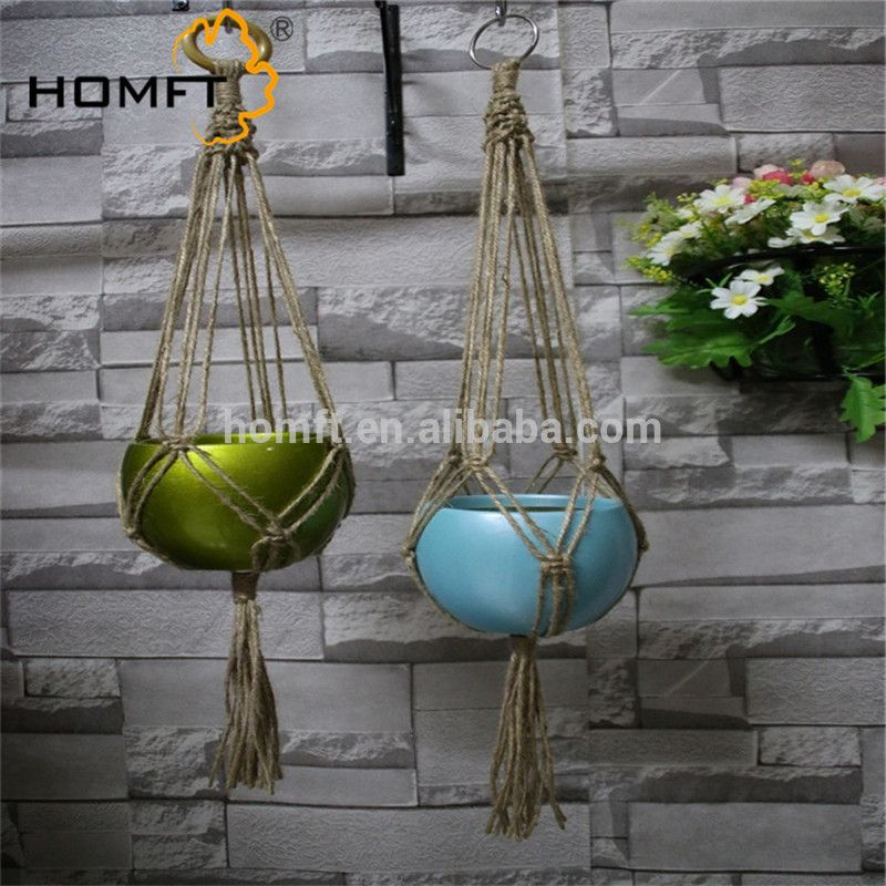 Factory direct Macrame plant hanger holders with